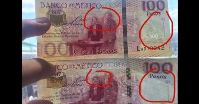Alertan por billetes de 100 pesos falsos. #Entérate