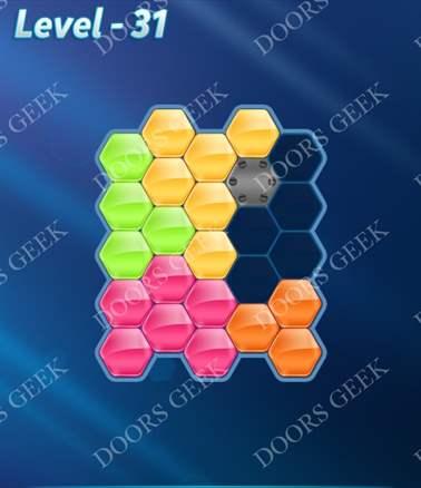 Block! Hexa Puzzle [Intermediate] Level 31 Solution, Cheats, Walkthrough for android, iphone, ipad, ipod