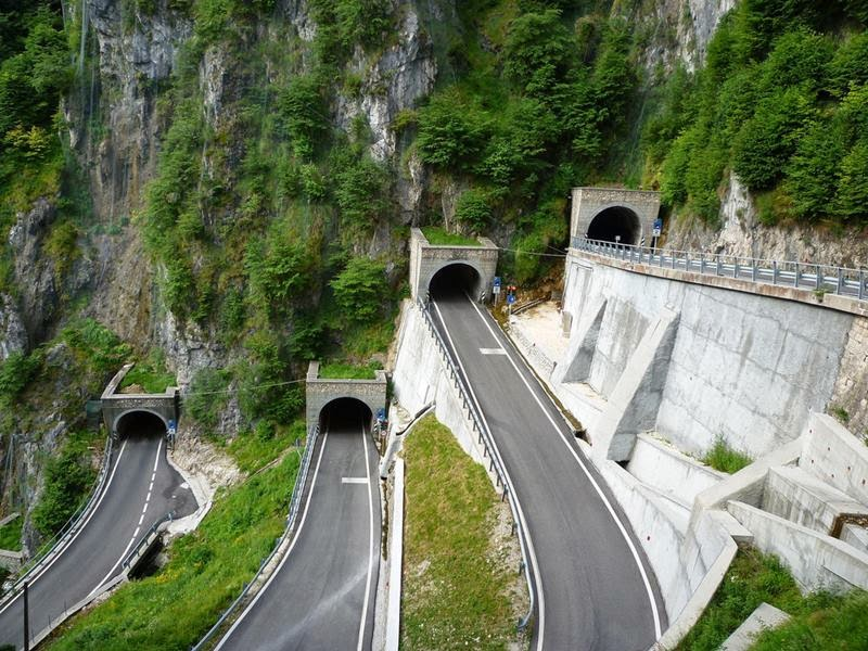 Five Tunnels at San Boldo Pass