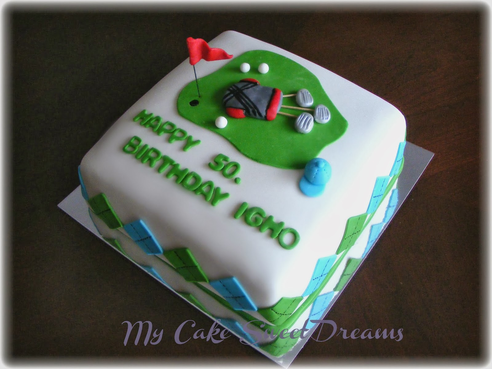 My Cake Sweet Dreams Golf Themed Cake