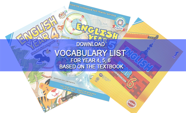 Download Vocabulary List For Year 4,5 & 6 Based On The