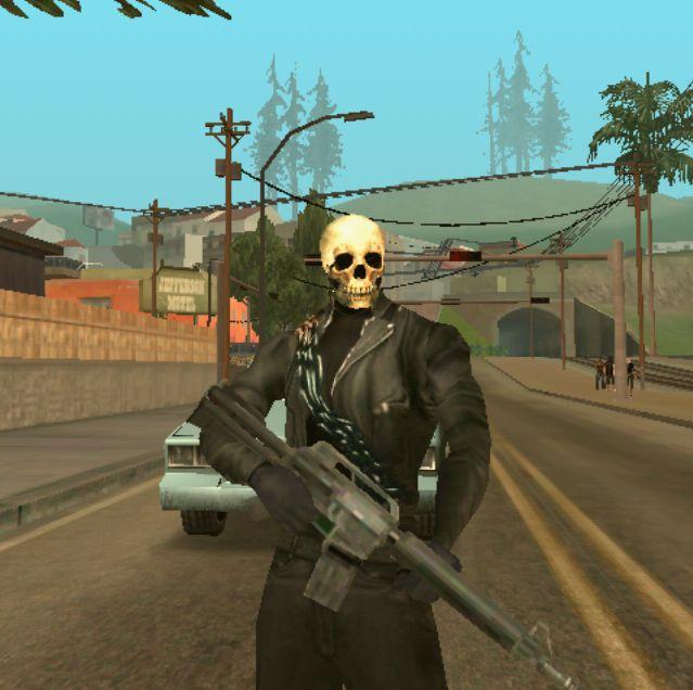 Ghost Rider Skin Mod GTA SA Android download free