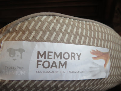 Dog bed made with eco-friendly reclaimed memory foam