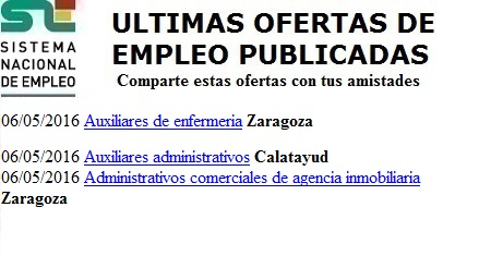 Calatayud, Zaragoza. Lanzadera de Empleo Virtual. Sistema Nacional de Empleo