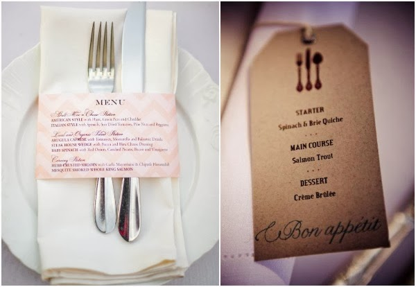 67 Best Images About Napkin Rings Menu Cards On: 8 Pretty Perfect Wedding Menu Ideas