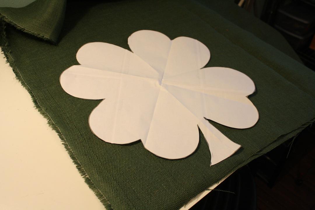 St Patrick S Day Shamrock Burlap Door Hanger Create