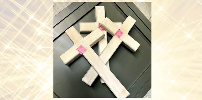 bare wood crosses to paint for Easter