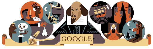 Celebrating William Shakespeare Birthday Anniversary - Google Doodle