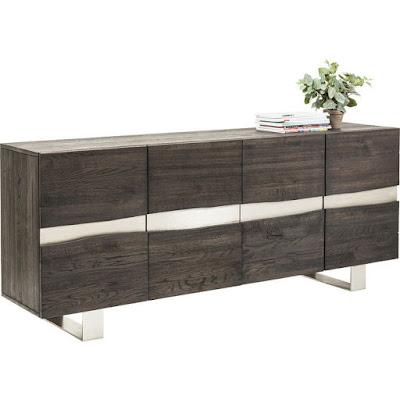 moderní nábytek Reaction, nábytek z dubového dřeva, nábytek ze dřeva a kovu