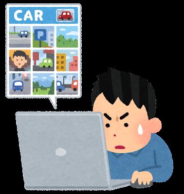 画像認証が出来ない人のイラスト(選択型)