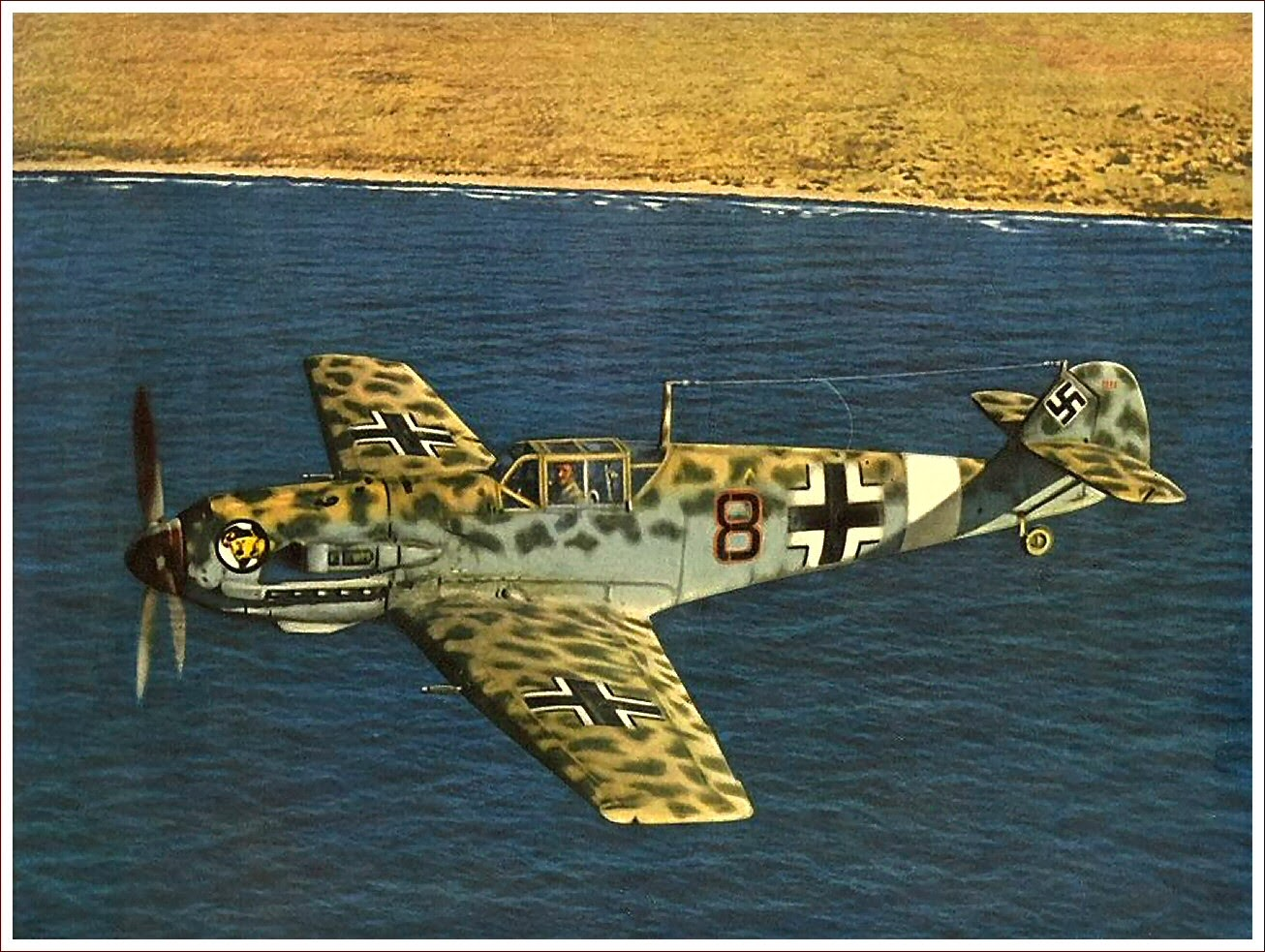 c57a1031 The Messerschmitt Bf 109, often called Me 109 (most often by Allied pilots  and aircrew), was a German World War II fighter aircraft designed by Willy  ...