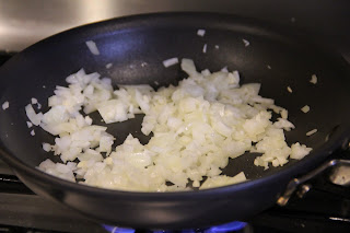 sauteed onions in a pan