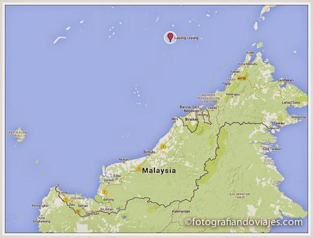 Layang Layang un pequeño islote en medio del mar