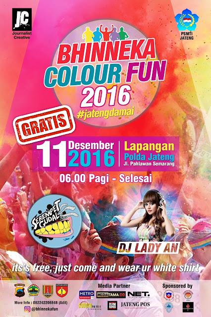Bhinneka Colour Fun 2016 Ajak Anak Muda Jateng Hargai Perbedaan
