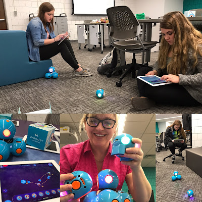 students playing with dot and dash robots