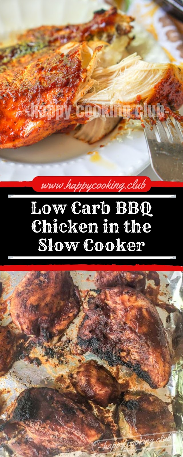 Low Carb BBQ Chicken in the Slow Cooker