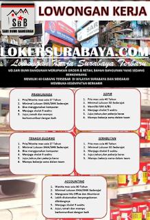 Lowongan Kerja di UD. Sari Bumi Bangunan Surabaya Terbaru Mei 2019