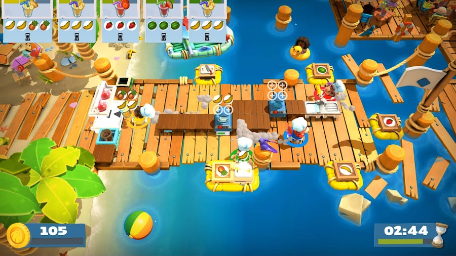overcooked 2 surf n turf dlc gameplay