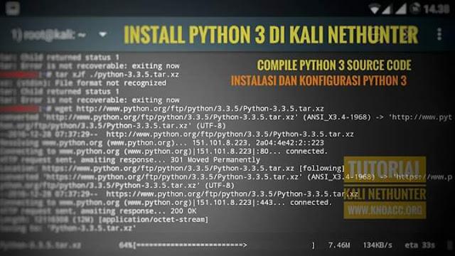 kali nethunter python 3 instalation