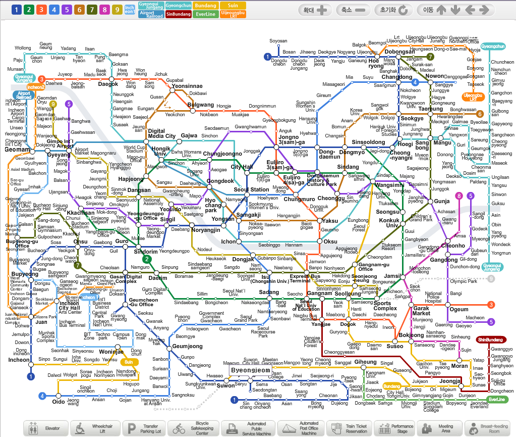 Seoul Subway Map Chinese.Korea Travel Information Seoul Subway Everything You Wanted To Know