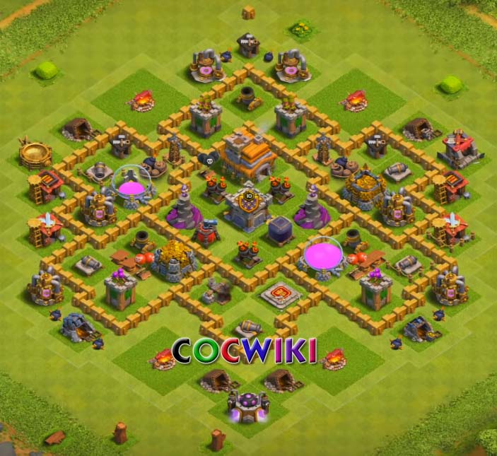 level 7 farming base design