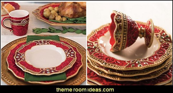Renaissance Holiday Dinnerware   christmas kitchen decorations - Christmas table ware - Christmas mugs  - Christmas table decorations - Christmas glass ware - Holiday decor - Christmas dining - christmas entertaining - Christmas Tablecloth - decorating for Christmas - Santa mugs - Christmas Cookie Cutters  - snowman and reindeer kitchen  accessories - red cardinal kitchen decor - seasonal dinnerware
