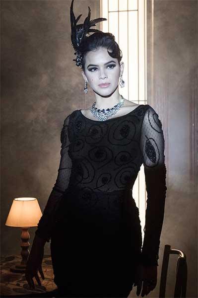 Figurino Beatriz (Bruna Marquezine) Nada será como antes, vestido preto