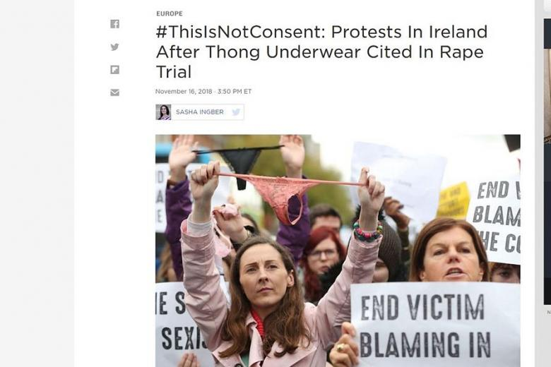 Many people have said that showing the victim's underwear in court was humiliating and insensitive.