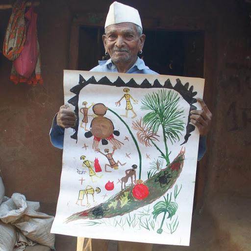 Alirajpur News- शिखर सम्मान प्राप्त लोक चित्रकार पैमा फत्या का निधन