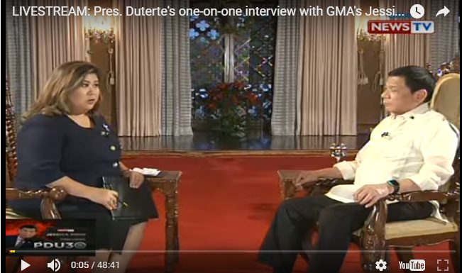 WATCH: Full Interview Ni President Duterte Kay Jessica Soho