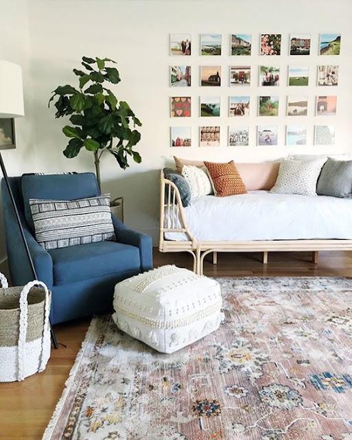 irvington pink vintage inspired rug