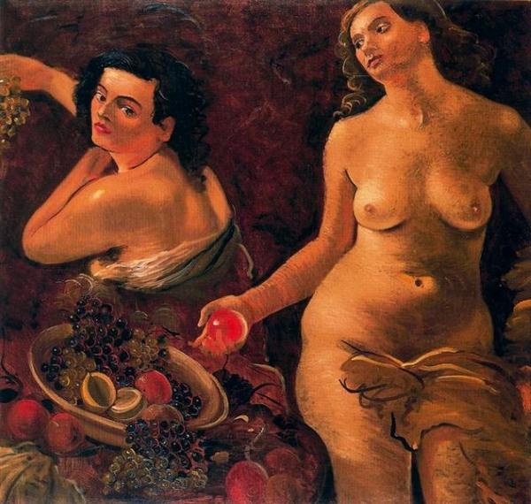 Андре Дерен André Derain Две обнаженные женщины и натюрморт