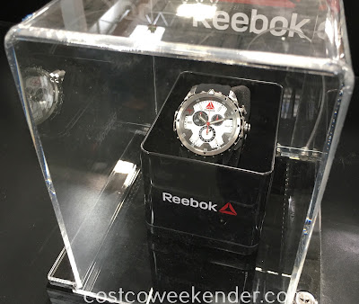 Accessorize when you go out or work out with the Reebok Impact Chrono Stainless Steel Men's Watch