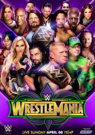 WWE WrestleMania 34 2018 PPV WEB-Rip 480p Full Show