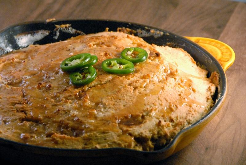 skillet gluten free cornbread jalapeno honey