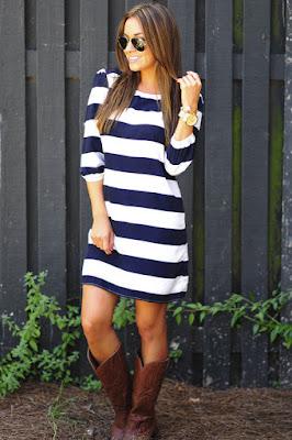Botas vaqueras con vestidos