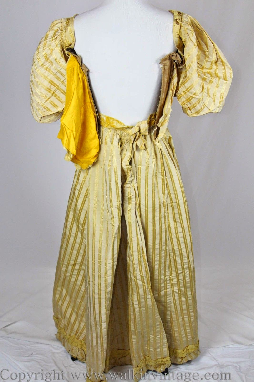 All The Pretty Dresses: 1890's Ball Gown in Yellow