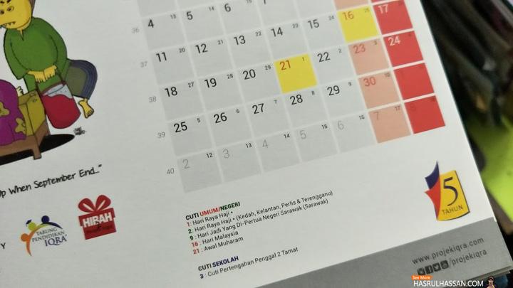 Cuti Awal Muharam 2017 Adalah Pada 22 September