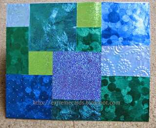 origami paper quilt collage card front