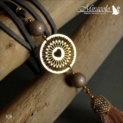 wisiorek, naszyjnik z chwostem,tassel pendant
