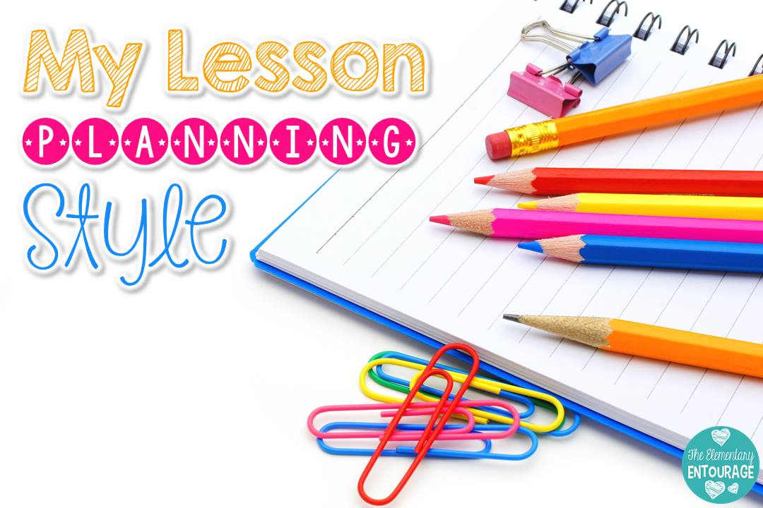 The Elementary Entourage My Lesson Planning Style {Core Inspiration - lesson planning