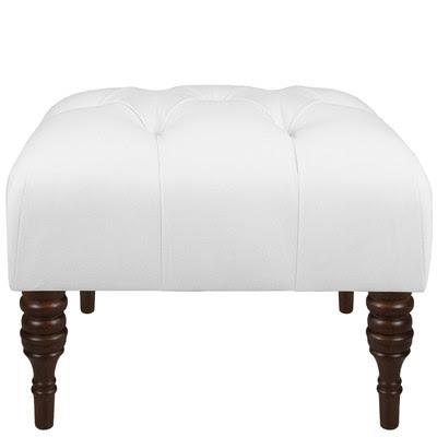 small white ottoman