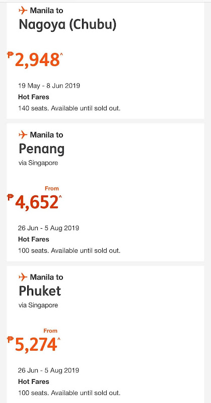 Latest JETSTAR ASIA Promo Fares and Seat Sale