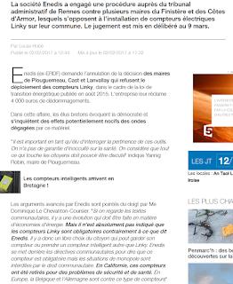 ENEDIS réclame 4000 € de dédommagements