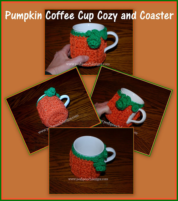 could not find my pumpkin Coffee cup, so I designed a Pumpkin Cozy ...