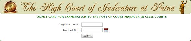 Patna High Court Admit Card