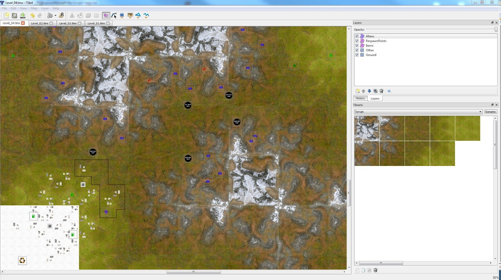 myGarageGame: Terrain tiles