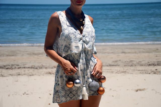 Australian Summer Christmas outfit idea boho playsuit