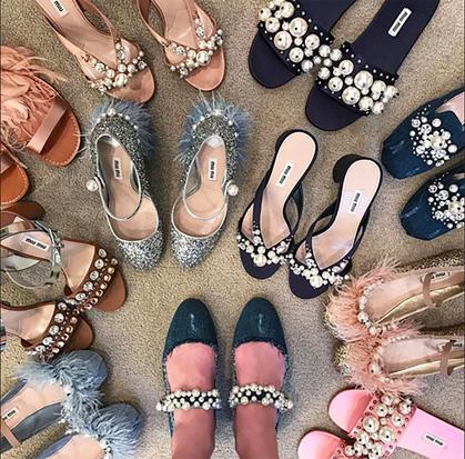 miu miu pearl sandals trend