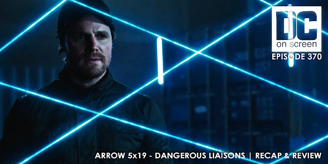 Oliver separated from Felicity by a laser fence